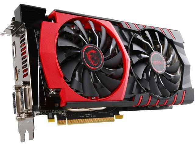 MSI Radeon R9 380 DirectX 12 R9 380 GAMING 4G 4GB 256-Bit GDDR5 PCI Express 3.0 HDCP Ready CrossFireX Support ATX Video Card