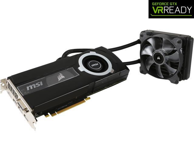 MSI GeForce GTX 980 Ti DirectX 12 GTX 980TI SEA HAWK 6GB 384-Bit GDDR5 PCI Express 3.0 x16 HDCP Ready SLI Support ATX Video Card