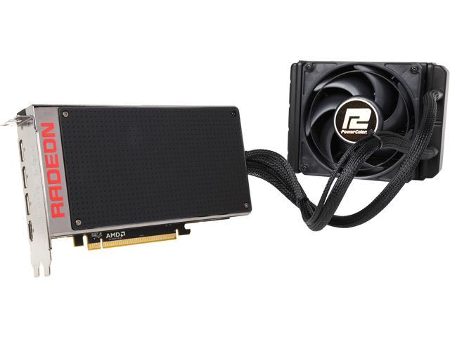 PowerColor Radeon R9 Fury X AX R9 FURY X 4GBHBM-DH 4GB 4096-bit HBM PCI Express 3.0 CrossFireX Support ATX Video Card