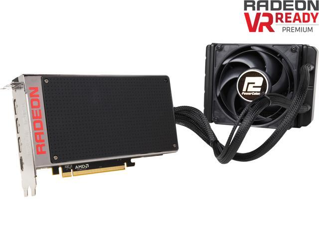 PowerColor Radeon R9 Fury X DirectX 12 AX R9 FURY X 4GBHBM-DH 4GB 4096-bit HBM PCI Express 3.0 CrossFireX Support ATX Video Card