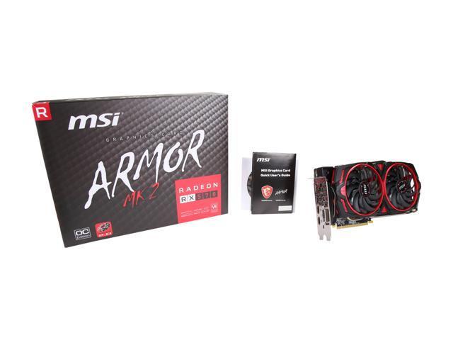 NeweggBusiness - MSI Radeon RX 570 DirectX 12 RX 570 ARMOR MK2 8G OC