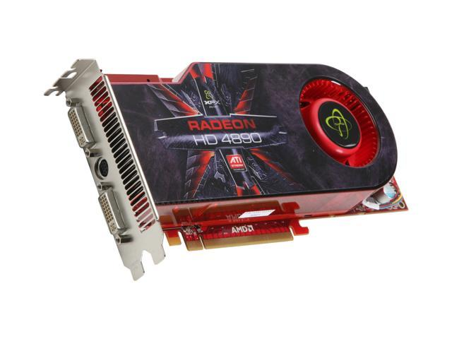 XFX Radeon HD 4890 DirectX 10.1 HD-489A-ZDFC 1GB 256-Bit GDDR5 PCI Express 2.0 x16 HDCP Ready CrossFireX Support Video Card
