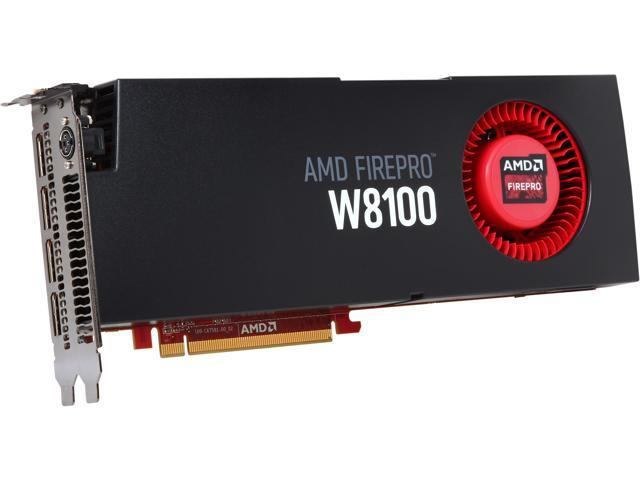 AMD FirePro W8100 100-505738 8GB 512-bit GDDR5 PCI Express 3.0 x16 CrossFire Supported Workstation Video Card
