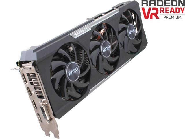 SAPPHIRE NITRO Radeon R9 390X 100381NTOCL 8GB GDDR5 PCI Express 3.0 OC Version w/ backplate (UEFI) Video Card