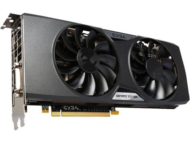 EVGA GeForce GTX 960 02G-P4-2966-KR 2GB SSC GAMING w/ACX 2.0+___ Whisper Silent Cooling Graphics Card