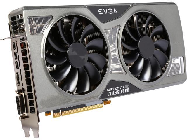 EVGA GeForce GTX 980 04G-P4-5988-KR 4GB K|NGP|N GAMING w/ACX 2.0+___ Whisper Silent w/ Multi-Color LED Cooler___ Customized Overclocking Graphics Card