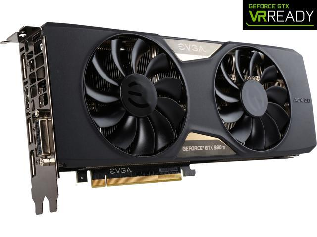 EVGA GeForce GTX 980 Ti 06G-P4-4993-KR 6GB SC GAMING w/ACX 2.0+___ Whisper Silent Cooling Graphics Card