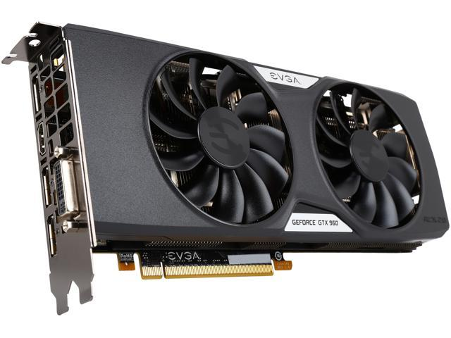 EVGA GeForce GTX 960 04G-P4-3967-KR 4GB SSC GAMING w/ACX 2.0+___ Whisper Silent Cooling w/ Free Installed Backplate Graphics Card
