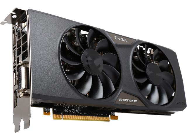 EVGA GeForce GTX 950 02G-P4-2958-KR 2GB FTW GAMING___ Silent Cooling Gaming Graphics Card