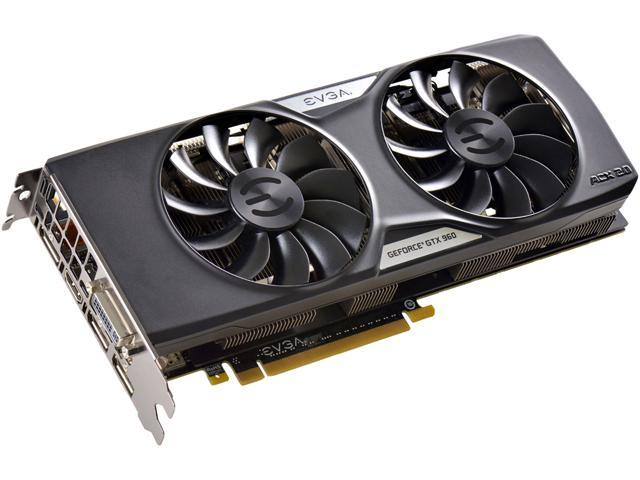 EVGA GeForce GTX 960 04G-P4-3969-KR 4GB FTW GAMING w/ACX 2.0+___ Whisper Silent Cooling w/ Free Installed Backplate Graphics Card