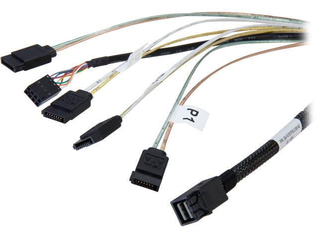 NeweggBusiness - LSI LSI00410 0.6m Internal Cable SFF8643 to x4 ...