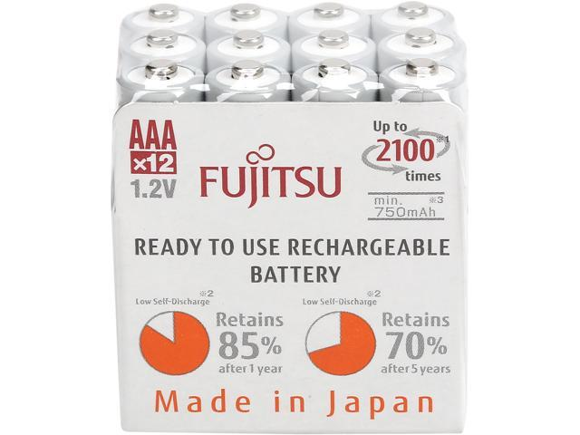 12-Pack Fujitsu AAA Rechargeable Batteries