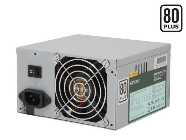 Antec earthwatts EA380 380W Continuous Power ATX12V v2.0 80 PLUS Certified Active PFC Power Supply