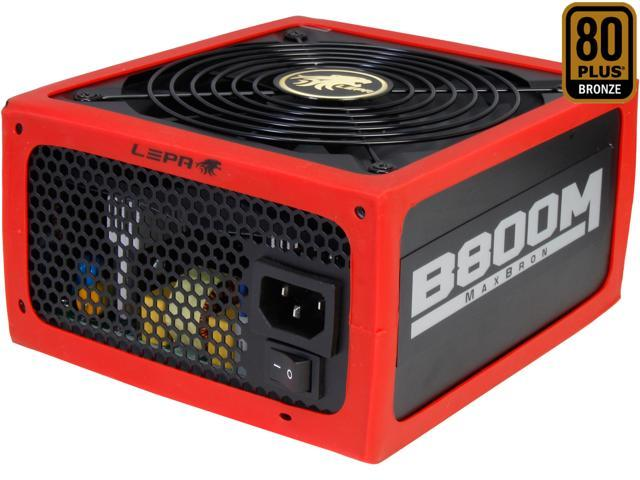 LEPA MaxBron B800-MB 800W ATX CrossFire Ready 80 PLUS BRONZE Certified Active PFC Power Supply