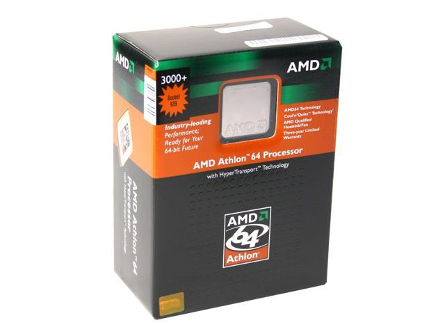 AMD Athlon 64 3000+ Venice Single-Core 1.8 GHz Socket 939 ADA3000BPBOX Processor