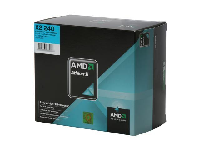 AMD Athlon II X2 240 Regor Dual-Core 2.8 GHz Socket AM3 65W ADX240OCGQBOX Processor