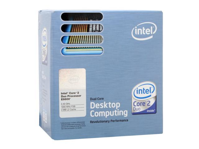 Intel Core 2 Duo E6600 Conroe Dual-Core 2.4 GHz LGA 775 65W BX80557E6600 Processor