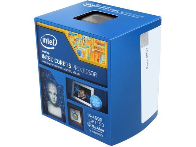 Intel Core i5-4690 Haswell Quad-Core 3.5 GHz LGA 1150 84W BX80646I54690 Desktop Processor Intel HD Graphics 4600