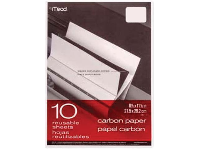 Black Carbon Mill Finish Paper, 8-1/2 X 11, 10 Sheets/Pack photo