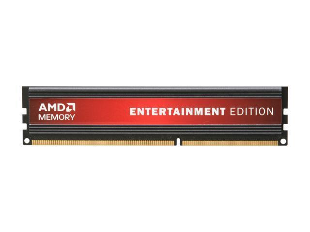 AMD Entertainment Edition 2GB 240-Pin DDR3 SDRAM DDR3 1600 (PC3 12800) Desktop Memory Model AE32G1609U1