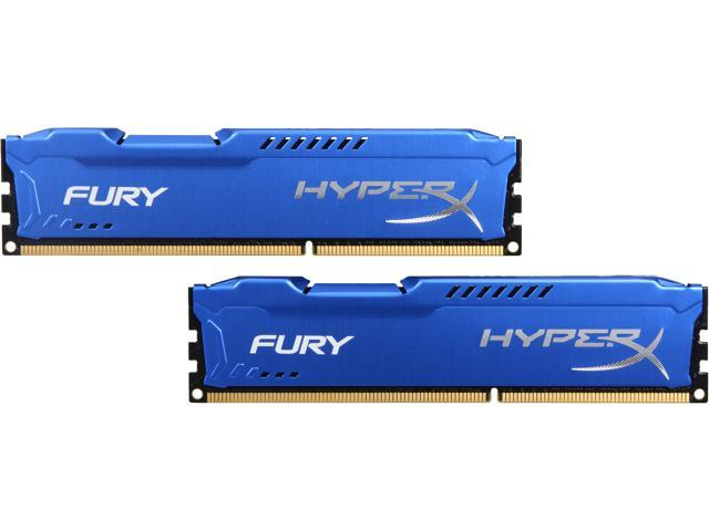 HyperX Fury Series 8GB (2 x 4GB) 240-Pin DDR3 SDRAM DDR3 1600 (PC3 12800) Desktop Memory Model HX316C10FK2/8