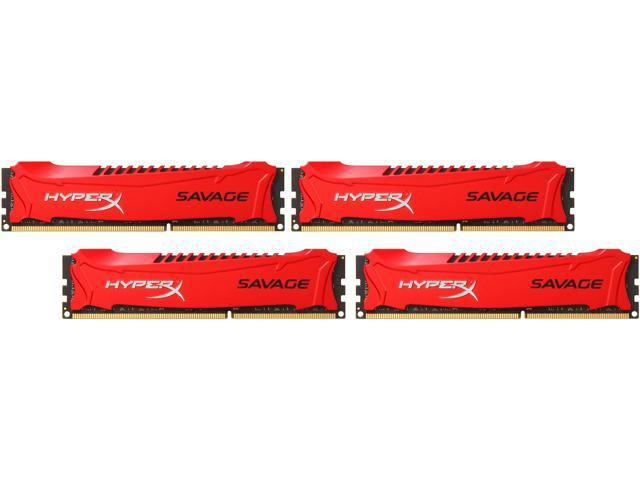 HyperX Savage 32GB (4 x 8GB) 240-Pin DDR3 SDRAM DDR3 2400 (PC3 19200) Desktop Memory Model HX324C11SRK4/32