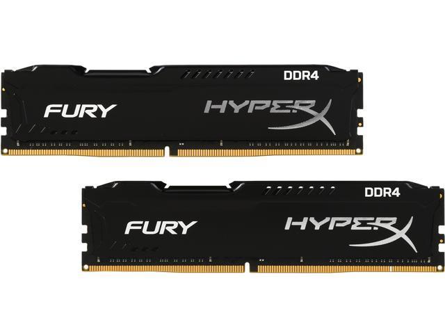 HyperX FURY 16GB (2 x 8GB) 288-Pin DDR4 SDRAM DDR4 2133 (PC4 17000) Desktop Memory Model HX421C14FBK2/16