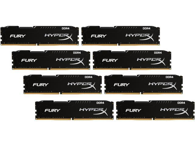 HyperX FURY 64GB (8 x 8GB) 288-Pin DDR4 SDRAM DDR4 2133 (PC4 17000) Compatible with Intel X99 chipset Memory Kit Model HX421C14FBK8/64