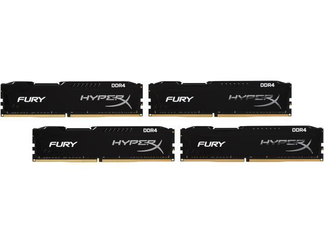 HyperX FURY 32GB (4 x 8GB) 288-Pin DDR4 SDRAM DDR4 2400 (PC4 19200) Compatible with Intel X99 chipset Memory Kit Model HX424C15FBK4/32