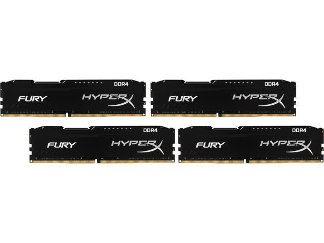 HyperX FURY 32GB (4 x 8GB) 288-Pin DDR4 SDRAM DDR4 2666 (PC4 21300) Compatible with Intel X99 chipset Memory Kit Model HX426C15FBK4/32