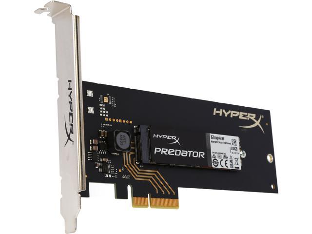 HyperX Predator Half-Height___ Half-Length (HH-HL) 240GB PCI-Express 2.0 x4 Internal Solid State Drive (SSD) SHPM2280P2H/240G (with HHHL Adapter)