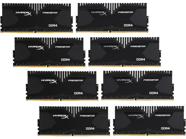 HyperX Predator 64GB (8 x 8GB) 288-Pin DDR4 SDRAM DDR4 2800 (PC4 22400) Desktop Memory Model HX428C14PBK8/64