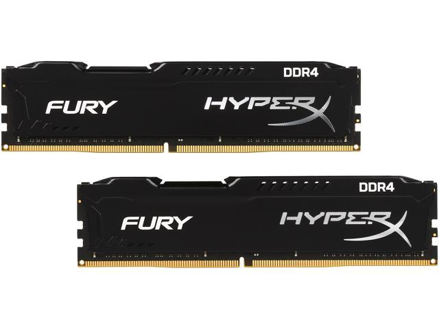 HyperX FURY 16GB (2 x 8GB) 288-Pin DDR4 SDRAM DDR4 2666 (PC4 21300) Intel X99 Desktop Memory Model HX426C15FBK2/16