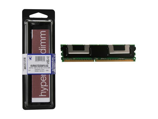 Kingston ValueRAM 2GB ECC Fully Buffered DDR2 667 (PC2 5300) Server Memory Model KVR667D2D8F5/2G