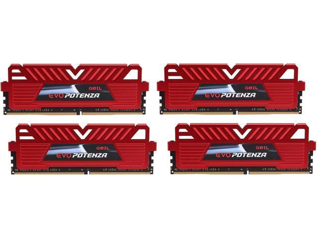 GeIL 16GB (4 x 4GB) 288-Pin DDR4 SDRAM DDR4 3200 (PC4 25600) Gaming Memory Model GPR416GB3200C16QC