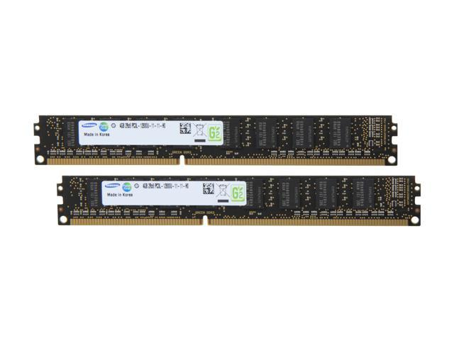 SAMSUNG 8GB (2 x 4GB) 240-Pin DDR3 SDRAM DDR3L 1600 (PC3L 12800) Desktop Memory Model MV-3V4G3D/US