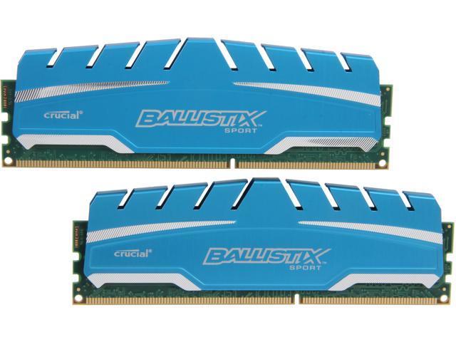 Crucial Ballistix Sport XT 16GB (2 x 8GB) 240-Pin DDR3 SDRAM DDR3 1866 (PC3 14900) Desktop Memory Model BLS2K8G3D18ADS3