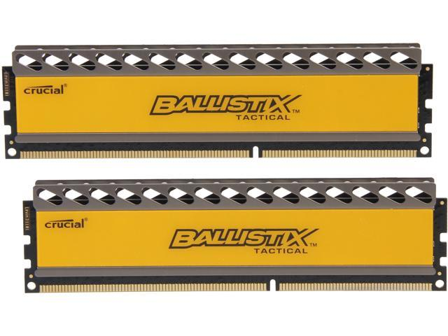 Crucial Ballistix Tactical 16GB (2 x 8GB) 240-Pin DDR3 SDRAM DDR3 1866 (PC3 14900) Gaming Memory Model BLT2KIT8G3D1869DT1TX0