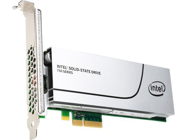 Intel 750 Series HHHL (CEM2.0) 400GB PCIe NVMe 3.0 x4 MLC Internal Solid State Drive (SSD) SSDPEDMW400G4R5