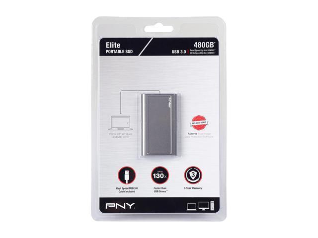 Neweggbusiness Pny Elite 480gb 2 5 Usb 3 0 Portable Ssd