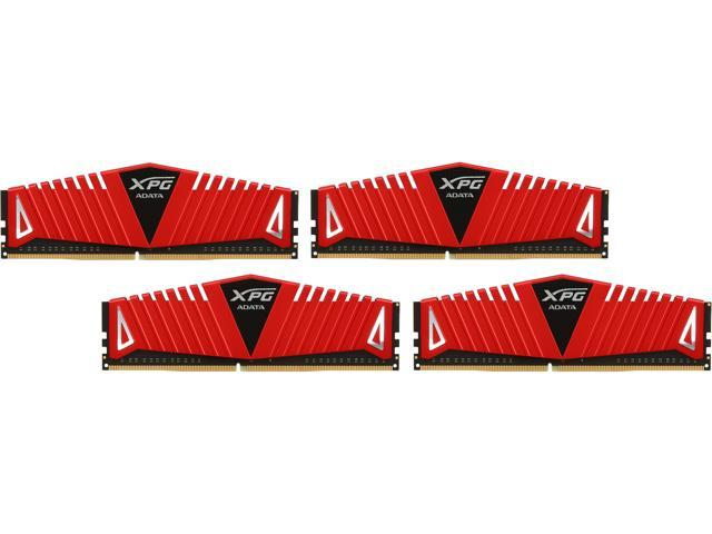 ADATA XPG Z1 16GB (4 x 4GB) 288-Pin DDR4 SDRAM DDR4 2800 (PC4 22400) Desktop Memory Model AX4U2800W4G17-QRZ