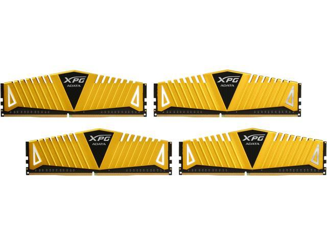 ADATA 16GB (4 x 4GB) 288-Pin DDR4 SDRAM DDR4 3333 (PC4 26600) Desktop Memory - Gold Edition Model AX4U3333W4G16-QGZ