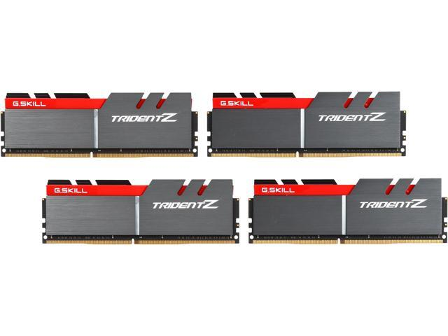 G.SKILL TridentZ Series 64GB (4 x 16GB) 288-Pin DDR4 SDRAM DDR4 3000 (PC4 24000) Desktop Memory Model F4-3000C14Q-64GTZ