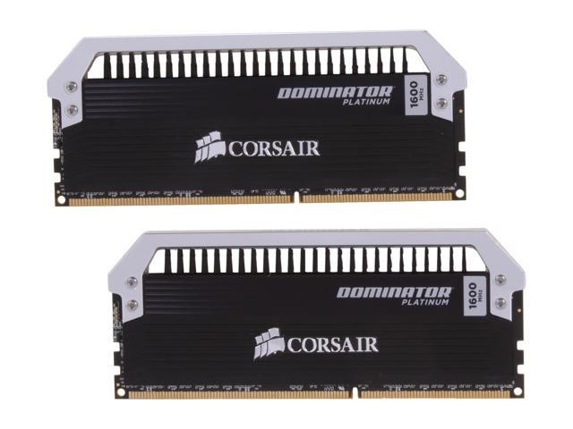 CORSAIR Dominator Platinum 16GB (2 x 8GB) 240-Pin DDR3 SDRAM DDR3 1600 (PC3 12800) Desktop Memory Model CMD16GX3M2A1600C9