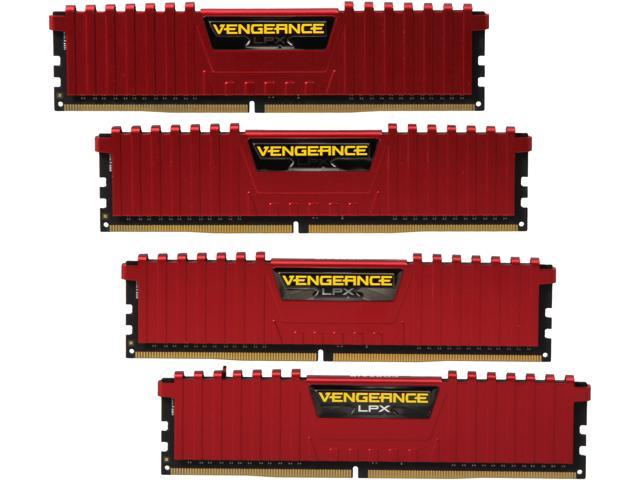 CORSAIR Vengeance LPX 16GB (4 x 4GB) 288-Pin DDR4 SDRAM DDR4 2666 (PC4 21300) Desktop Memory Model CMK16GX4M4A2666C15R