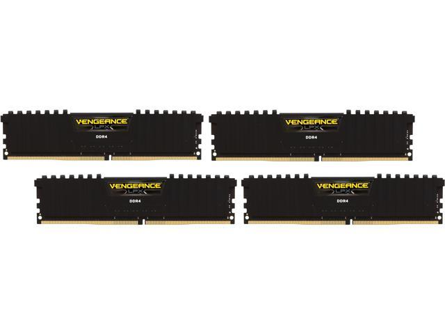 CORSAIR Vengeance LPX 32GB (4 x 8GB) 288-Pin DDR4 SDRAM DDR4 2133 (PC4 17000) Memory Kit Model CMK32GX4M4A2133C13
