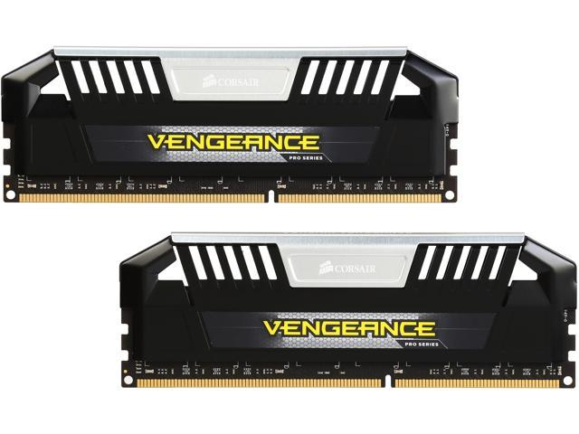 CORSAIR Vengeance Pro 16GB (2 x 8GB) 240-Pin DDR3 SDRAM DDR3 2400 (PC3 19200) Desktop Memory Model CMY16GX3M2A2400C11