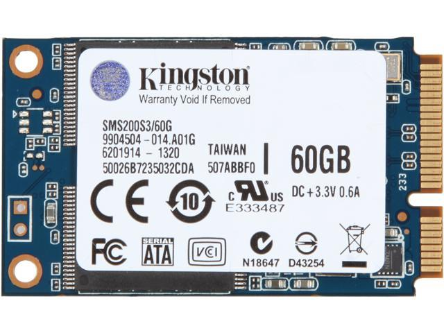 Kingston 60GB Mini-SATA (mSATA) Internal Solid State Drive (SSD) SMS200S3/60G - Newegg.com