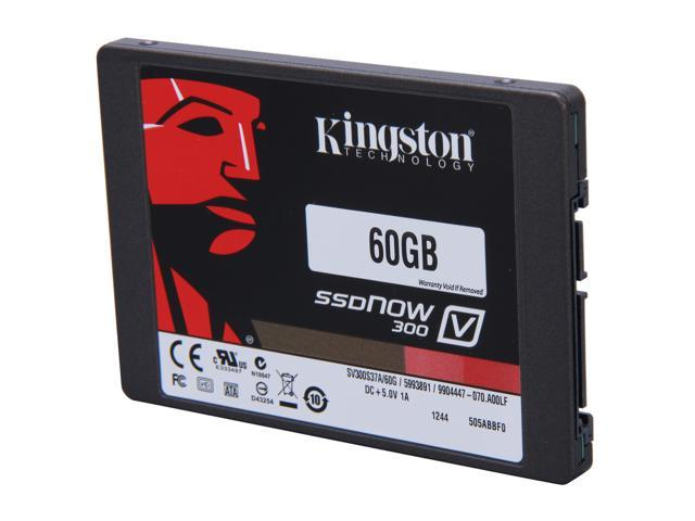 "Kingston SSDNow V300 Series 2.5"" 60GB SATA III Internal Solid State Drive (SSD) SV300S37A/60G"