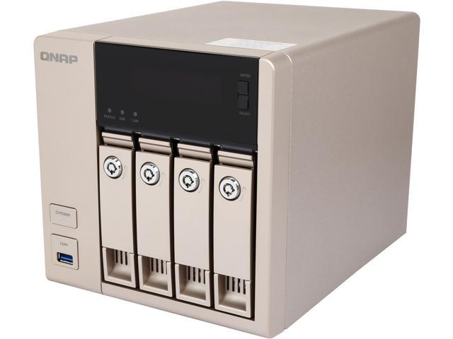 QNAP  TVS-463-4G-US 4-bay-4GB Affordable 10GbE-ready Golden Cloud Turbo vNAS